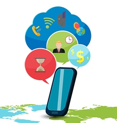 Smart phone device icon bubble vector