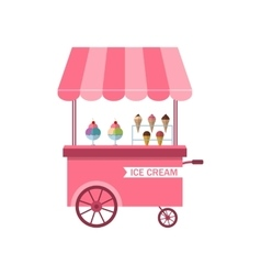 Icon of stand of ice creams sweet cart isolated vector