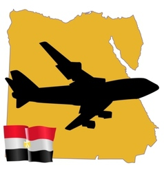 Fly me to the egypt vector