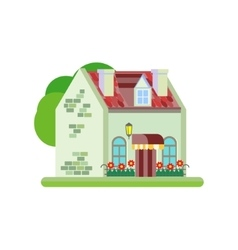 Cute colorful house vector