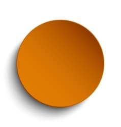 Orange circle empty banner on white background vector