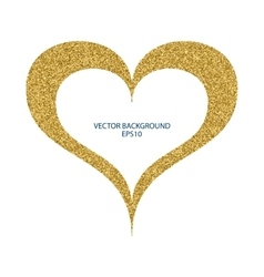 a heart gold vector image vector image
