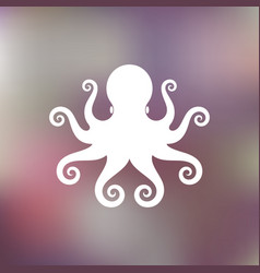 abstract octopus on blurred background vector image