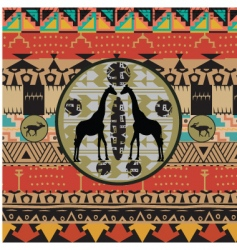 African background vector image vector image