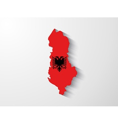 Albania map with shadow effect vector