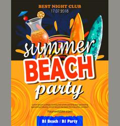 Beach party flyer vector