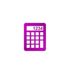 Calculator icon flat design style vector