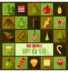 Christmas design template card vector image