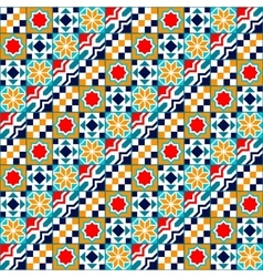 Colorful diagonal geometric tiles seamless pattern vector