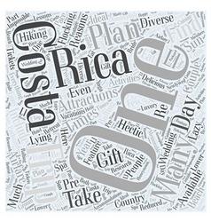Costa rica trips word cloud concept vector