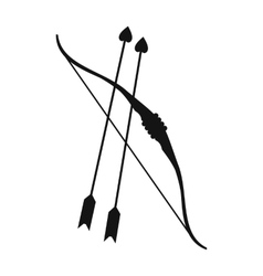 Cupid bow and arrows simple icon vector image vector image