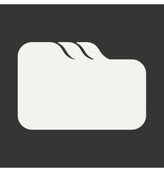Flat in black and white mobile application folder vector