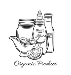 hand drawn tomato sauce vector image