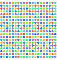 polka dot pattern seamless dot background vector image vector image