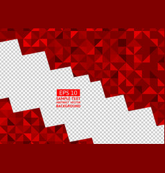 Red abstract background lowpoly vector