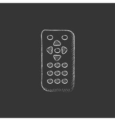 Remote control drawn in chalk icon vector