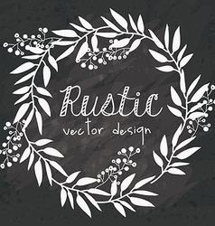 Rustic design vector