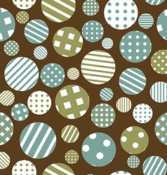 Seamless background with patterned round shapes vector image vector image
