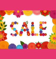 season sale banner template vector image vector image