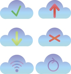 Set of cloud icons computing icons and logos vector