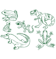 Set of reptiles vector