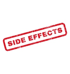 Side effects rubber stamp vector