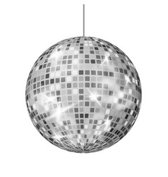 silver disco ball dance night club retro vector image