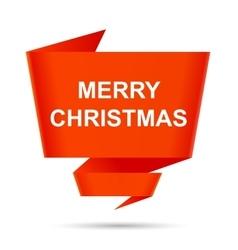 Speech bubble merry christmas design element sign vector