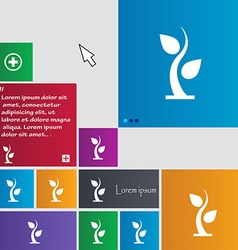 Sprout icon sign buttons modern interface website vector