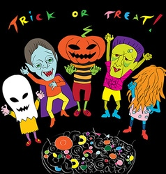 trick or treat composition vector image