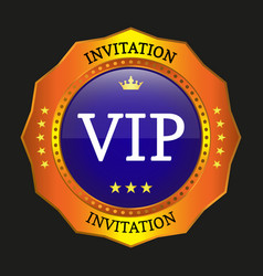 vip label vector image vector image