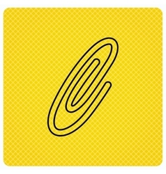 Safety pin icon paperclip sign vector