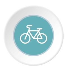 Sign bike icon flat style vector