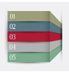 Infographics design variation 5 vector image