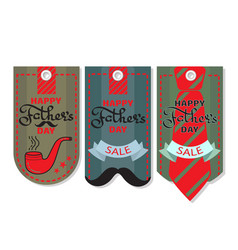 Happy fathers day set of sale coupon vector