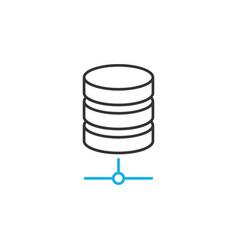 Database line icon vector