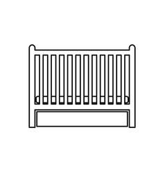 baby bed black color icon vector image