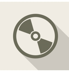 Compact disk web icon vector