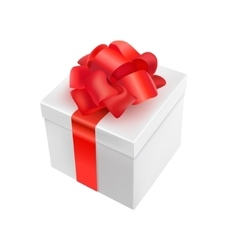 3d realistic present White vector image