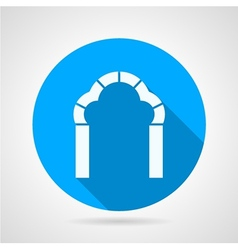 Round flat icon for trefoil arch vector