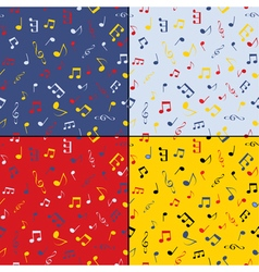 Musical seamless background set vector