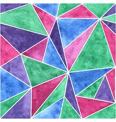 Triangle mosaic seamless pattern vector