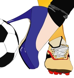 Between football and fashion vector