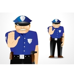 Policeman showing stop gesture vector