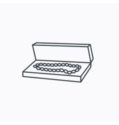 Jewelry box icon luxury precious sign vector