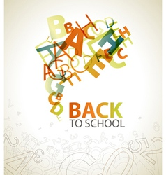 Abstract back to school vector