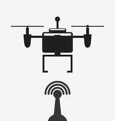 Drone technology design vector