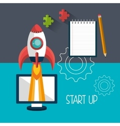 Start up company and business vector