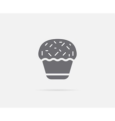 Cake cupcake cream element or icon ready for print vector