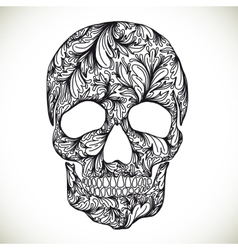 With hand drawn skull vector